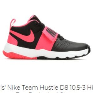 the best attitude f7d89 a45eb Grils Nike Team Hustle High Top Tennis shoes